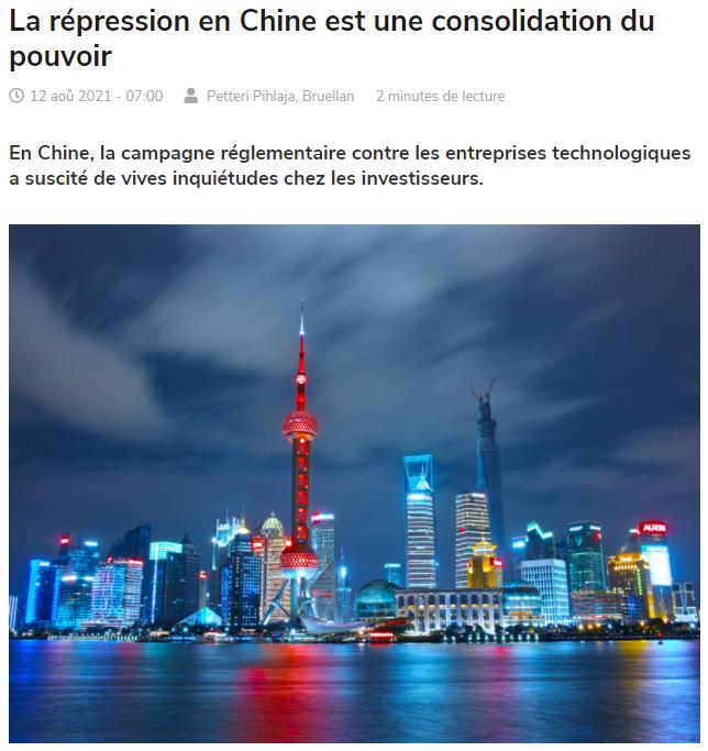 La répression en Chine est une consolidation du pouvoir